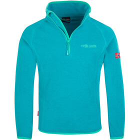 TROLLKIDS Nordland Halve Rits Kinderen, light petrol/dark mint